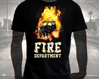 "T-shirt printing ""Fire Department"""