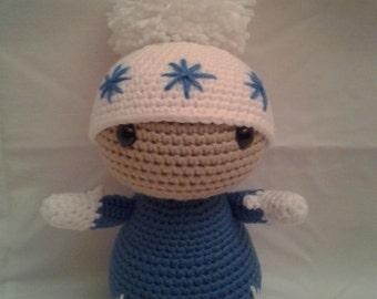 BLIP The Winter Doll = Crochet Amigurumi = Handmade Crochet Doll