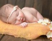 Artisan Wool layers, Newborn Photography Prop, Basket Stuffer, Wool blanket, Wool Basket Fill - Large