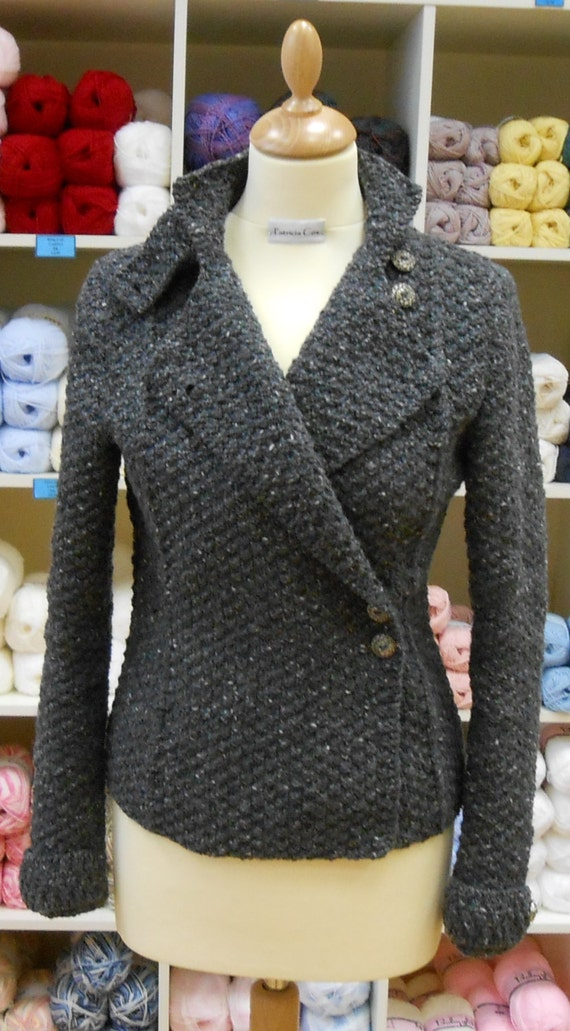 Military Style Jacket Knitting Pattern PDF by TheBaldySheep
