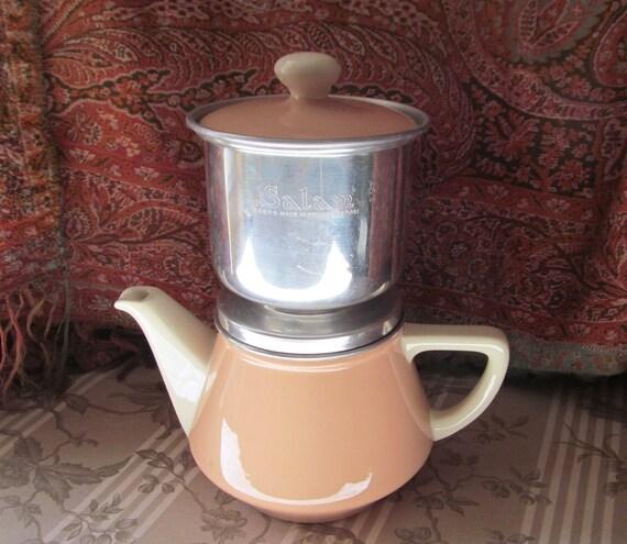 Vintage franse villeroy boch theepot koffiepot en filter - Deco giet keuken ...