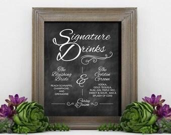 Signature Drinks Chalkboard Sign