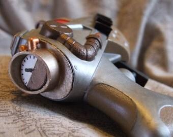 Steampunk/Science Fiction laser pistol 3 - Unique - Hand made sculpture/show piece/movie prop.
