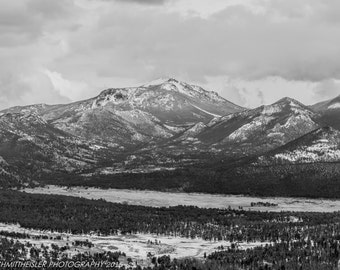 Rocky Mountain National Park Photography - Landscape Photography, Colorado Picture , Black and White art, USA Photography