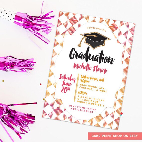 2015 graduation invitation printable graduation party invite