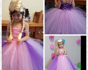 Classic Princess Tutu Dress -Princess Rapunzel - Tangled Tutu Dress