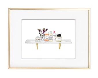 Beauty Shelf Illustration