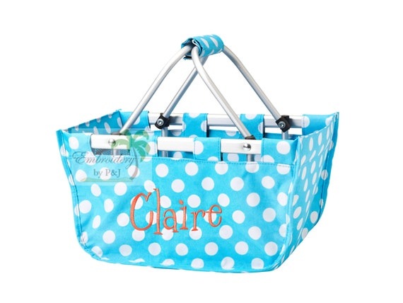 Customizable Polka Dot Mini Market Tote