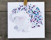 Baby Elephant Greeting Ca...