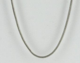 Vintage Sterling Silver Lines, Simple Snake  Necklace 3.5g U6018