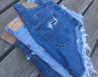 SALE SALE! Mystery High Waisted Distressed Denim Shorts