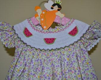ON SALE Smocked Dress Girl - Birthday Girl Dress - Smocked Birthday Dress - Toddler Dress - Easter Dress