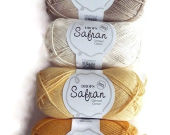 Drops Safran 100% cotton yarn, combed Egyptian cotton