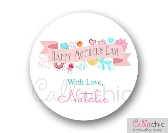 mothers day stickers printable printed pretty pastel. Black Bedroom Furniture Sets. Home Design Ideas