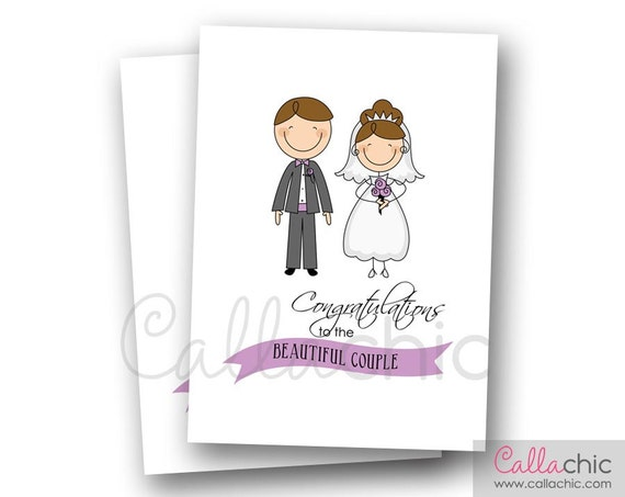 Wedding Congratulations Card PRINTABLE INSTANT DOWNLOAD