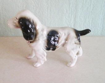 Porcelain dog spaniel vintage dog ornament crown trademark
