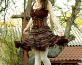 Hard Candy New Edition - Steampunk dress, Pixie Dress, Fairy Sleeveless Dress, Burning Man, Festival Dress, Renn Fest, Victorian Dress