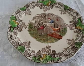 Copeland Spode England  Spod's Byron 4 Section Sandwich Plate