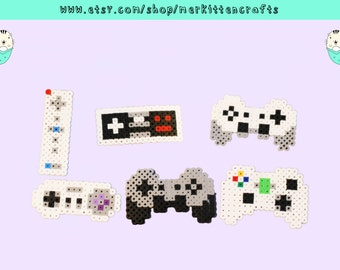 Video Game Controller Perler Keychains/Magnets/Necklaces! WiiMote - Super Nintendo - Nintendo - Playstation - Xbox 360