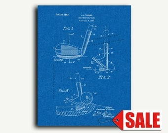 Patent Art - Sand Wedge Golf Club Patent Wall Art Print Poster
