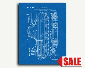 Patent Art - Insulated Military Tank Patent Wall Art Print