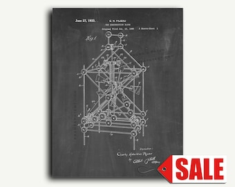 Patent Print - Toy Construction Block Patent Wall Art Poster