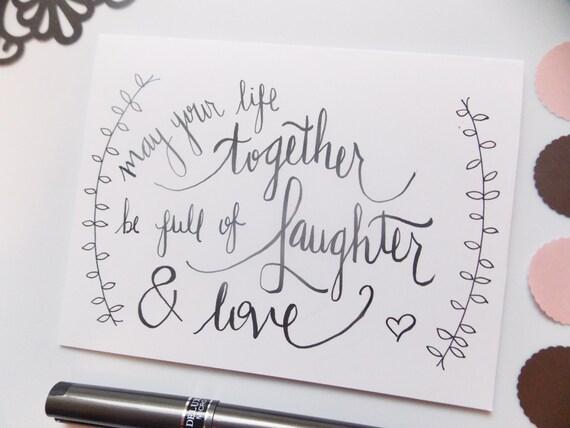 Card Fairytale Wedding Card Wedding Shower Card Wedding Quote