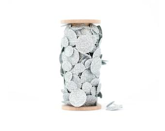 Silver Glitter Paper Garland