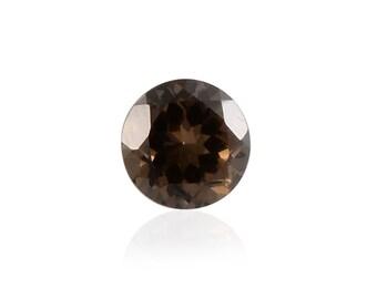 Charcoal Coated Quartz Loose Gemstone Round Cut 1A Quality 7mm TGW 1.10 cts.