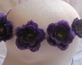 "The ""Violet"" flower headband, flower headband, flower crown, festival crown, coachella, rave, wedding halo"
