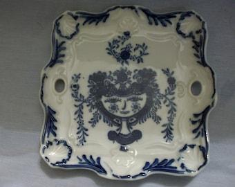 Blue Artistic Seito Square Plate