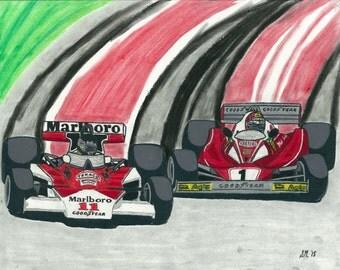Lauda v. Hunt - Rivalry Series Part 5 - Print