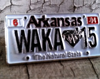 Wakarusa - 2015 Festival Hat Pin - License plate - Waka - Hat pin