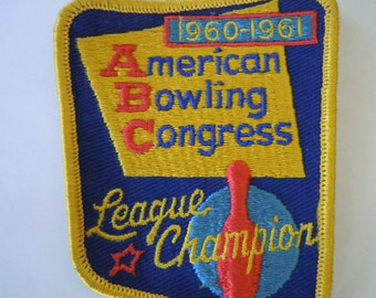 1960-61 Bowling Patch