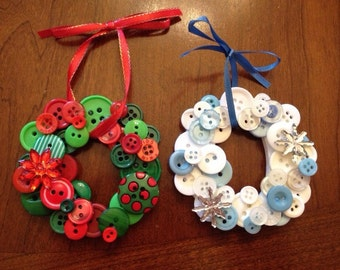 Mini Button Wreath Ornaments