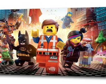 Lego MOVIE CANVAS PRINT Home Wall Decor Art Giclee Kids Bedroom Emmet