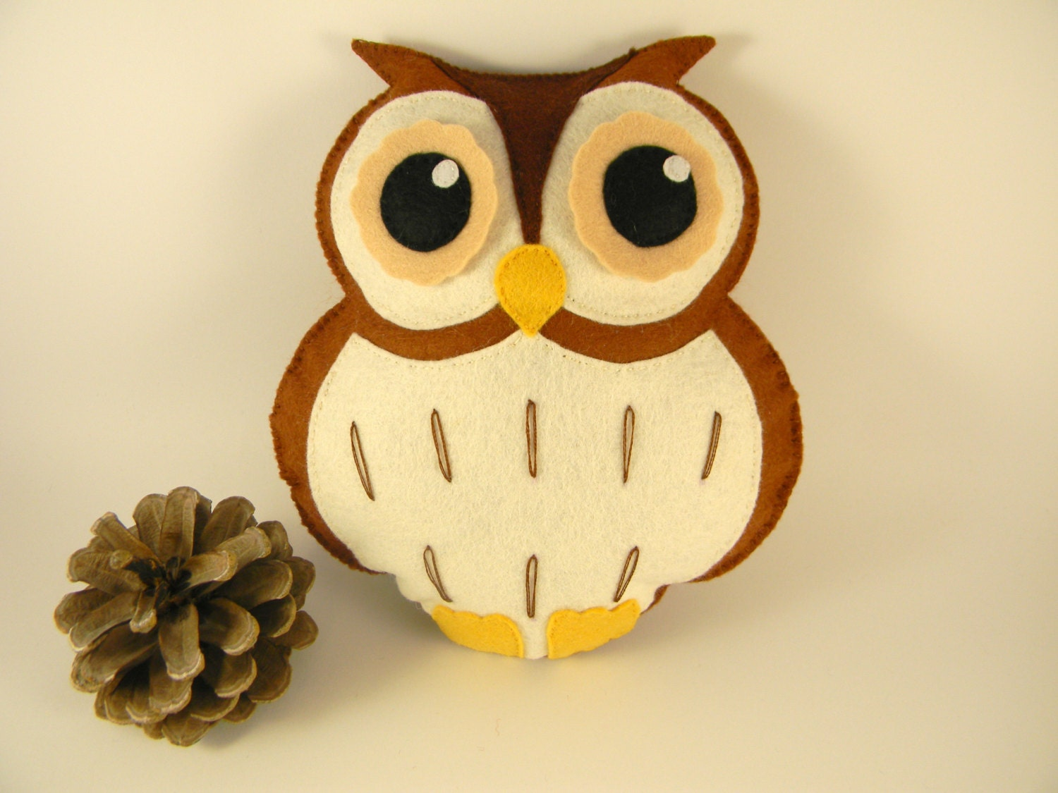 Personalized Felt Owl Toy Owl Stuffed Animal Owl Nursery