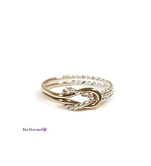 buckle knot ring promise ring knot ring by