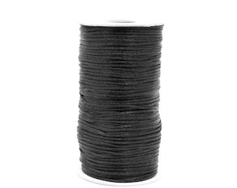 246yds Black Satin Rat Tail Cord