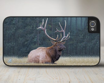 """Elk iPhone 5 Case, Elk iPhone 5s Case, Elk iPhone Case Protective Elk Phone Case """"Downtime"""" 50-8261"""