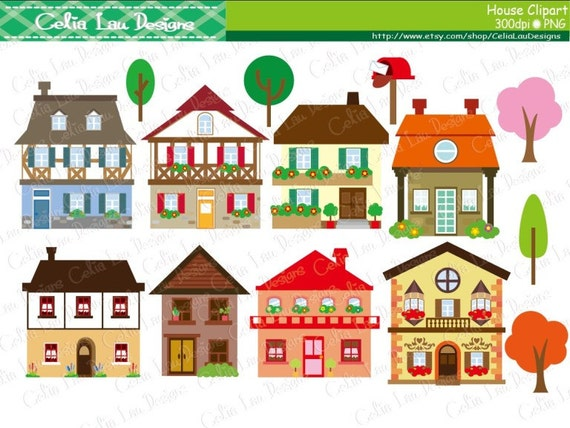 Clip Art Clipart Houses house clipart houses clip art buildings homes by celialaudesigns cute instant download