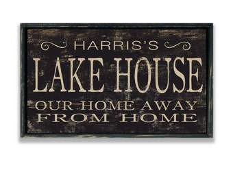 Personalized lake house wooden sign lake house wall decor lake house signs cabin sign lake house decor personalized gifts custom lake signs