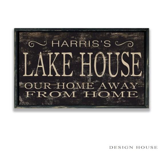 Personalized Lake House Wooden Sign Lake House Wall Decor Lake