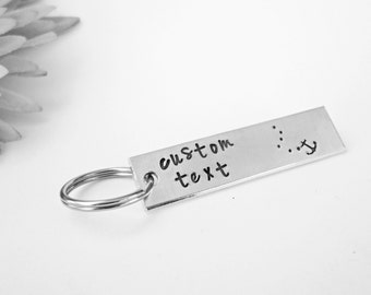 Personalized Keychain - Custom Keychain - Engraved Keychain - Rectangle Keychain - Metal Keychain - Personalized Gift - Wedding Gift