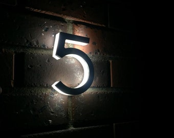 Laser Cut Stainless Steel Custom Made Laser Cut LED House Numbers