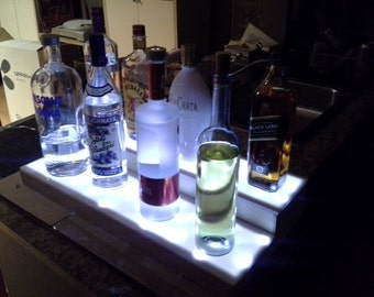 2 ft. Illuminated bottle display (white LED lights). Handcrafted.Great Gift!