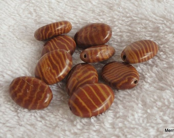 Brown Zebra Stone Beads