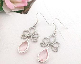 Silver Filigree Scroll Earrings