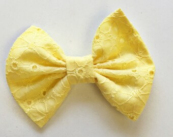 Yellow Eyelet bow