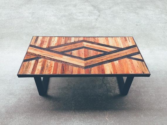 Adam geometric wood coffee table made to order modern for Geometric coffee table